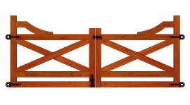 Portão de Madeira Peroba - MS Texas